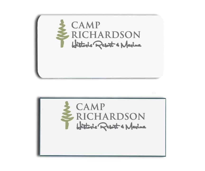 Camp Richardson Name Tags Badges