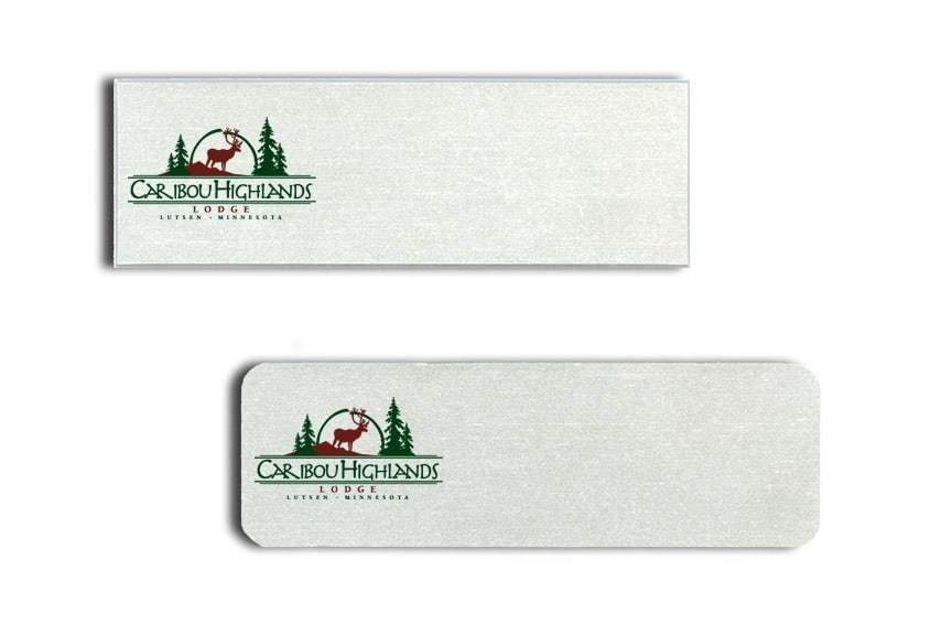 Caribou Highlands Lodge Name Tags Badges