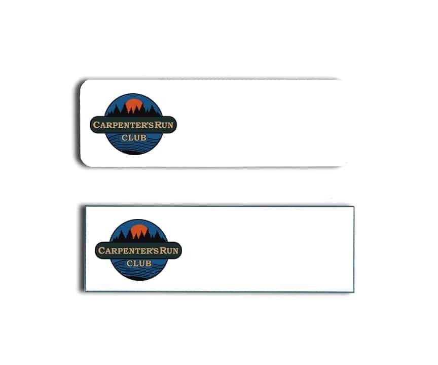 Carpenters Run Name Badges