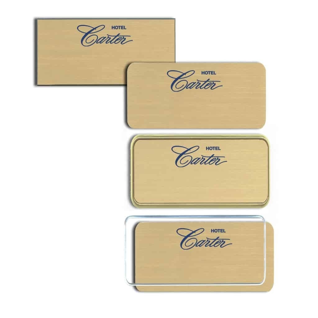 Carter Hotel Name Tags Badges