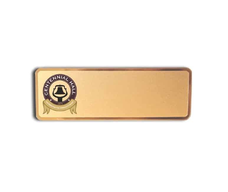 Centennial Hall name badges