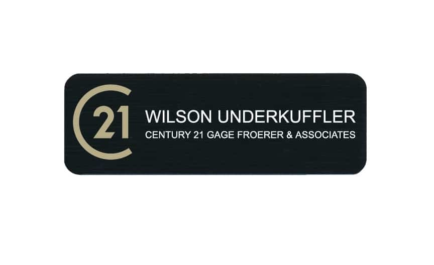 Century 21 name badges tags
