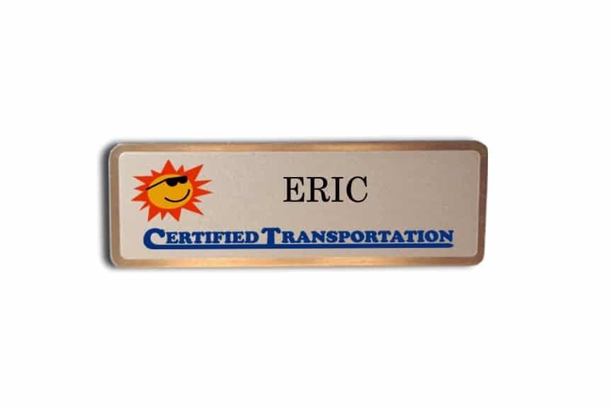 Certified Transportation name badges