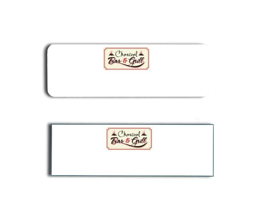 Charcoal Bar And Grill Name Badges