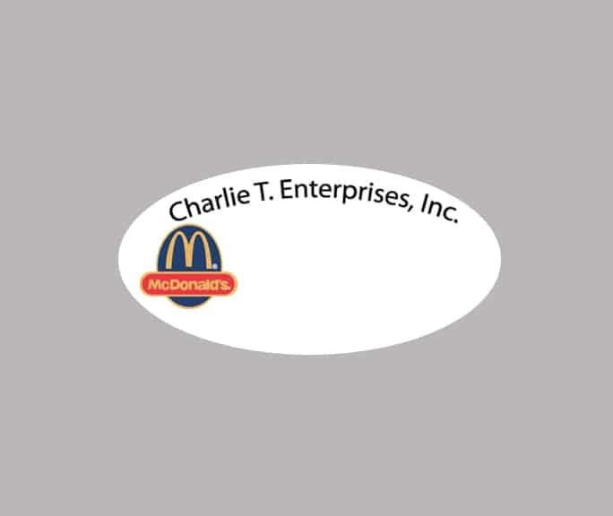 CharlieT Enterprises name badges
