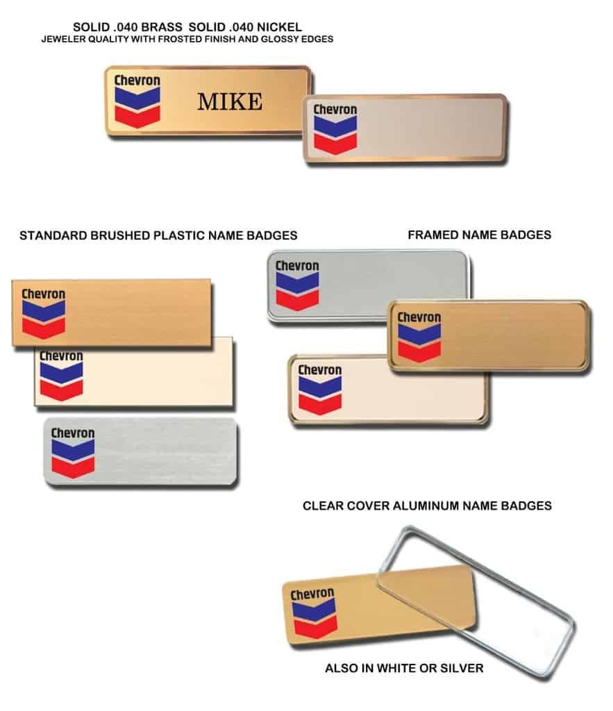 Chevron Name Tags Badges