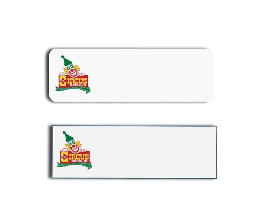 Circus Drive In Name Tags Badges