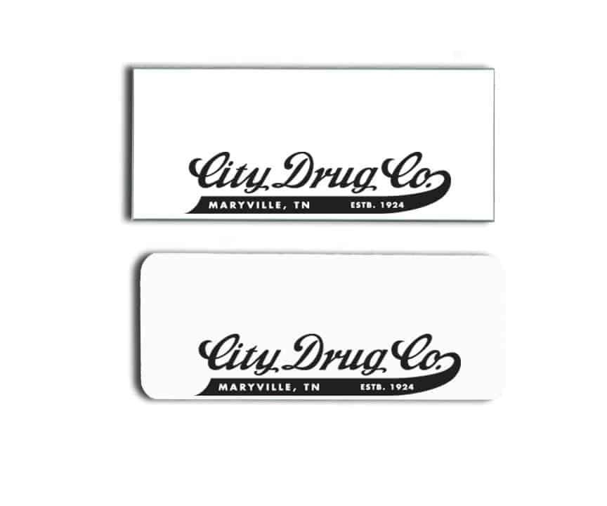 City Drug Co. name badges