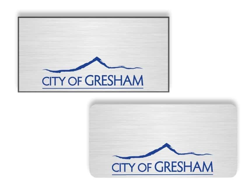 City of Gresham Name Badges