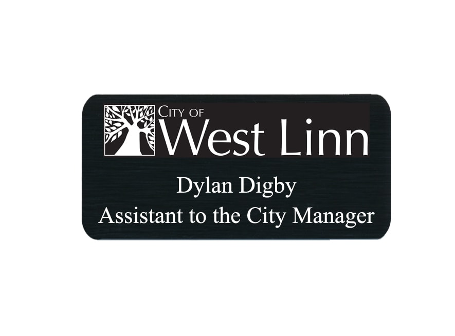 City of West Linn name badges tags
