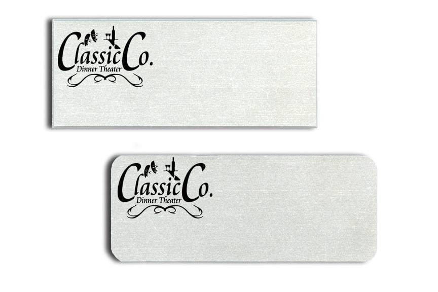 Classic Co Dinner Theater Name Tags Badges