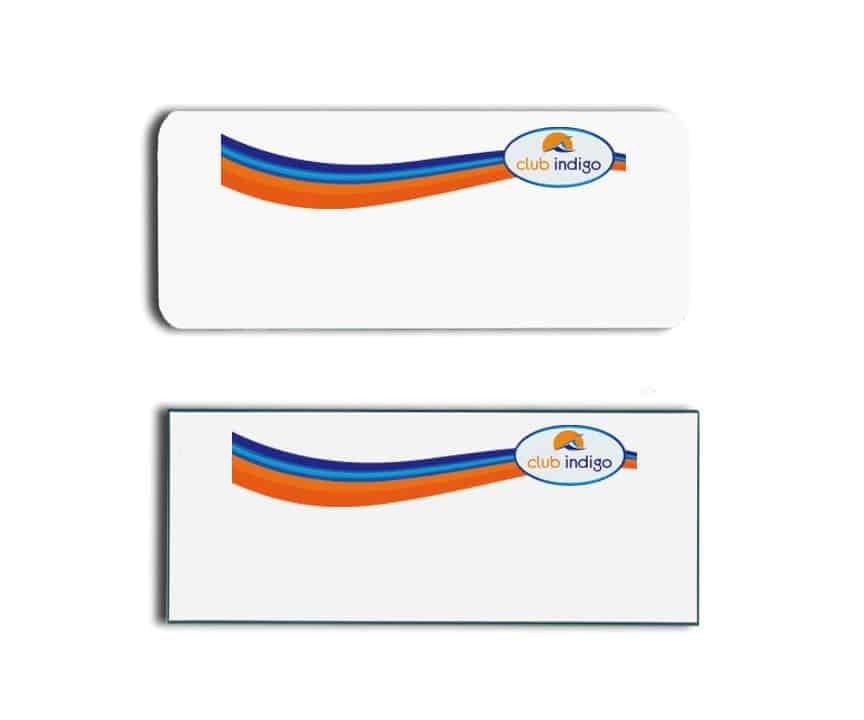 Club Indigo Name Tags Badges