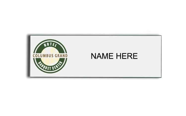 Columbus Grand Hotel name badges