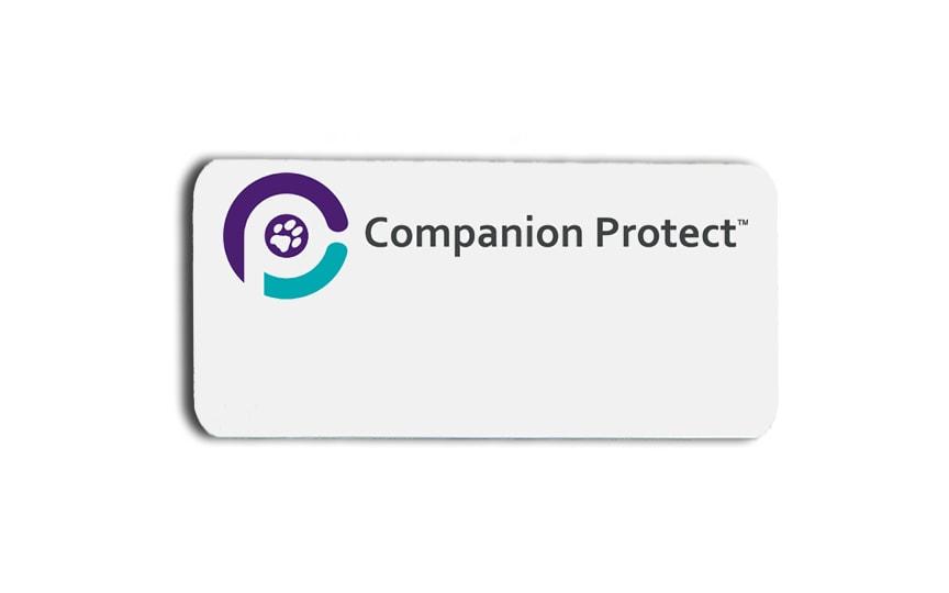 Companion Protect name badges tags