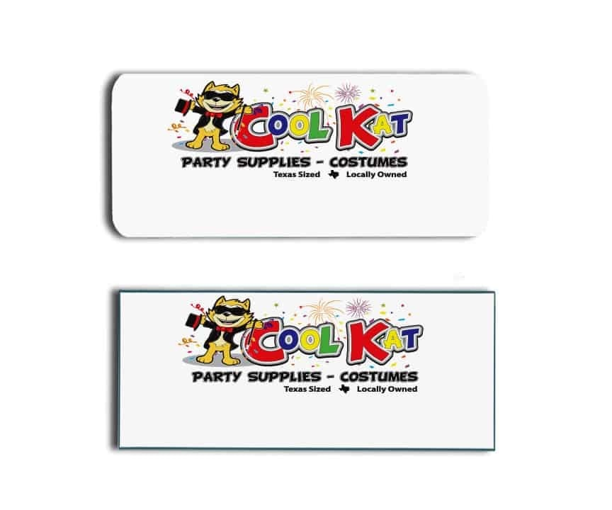 Cool Kat Party Supplies Name Tags Badges