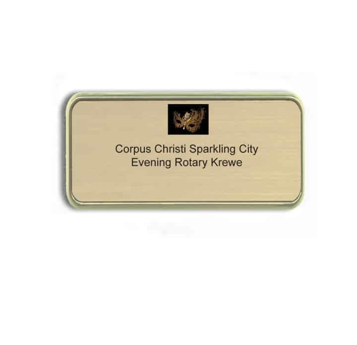 Corpus Christi Rotary name badges