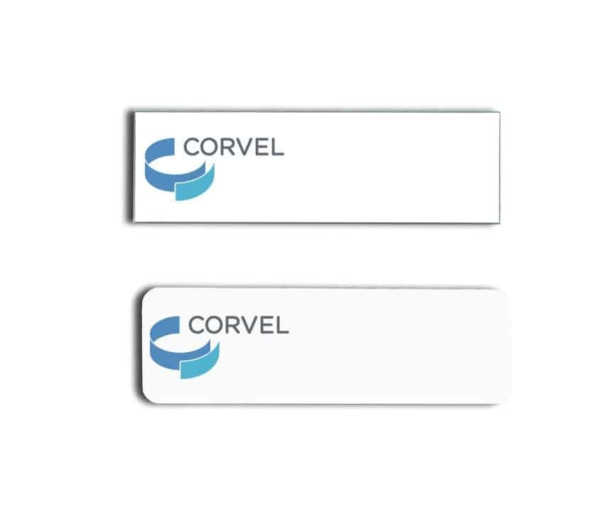 Corvel name badges tags