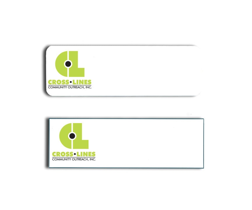 Cross Lines Name Tags Badges