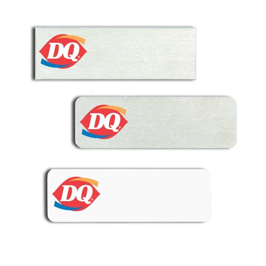 Dairy Queen Name Tags Badges