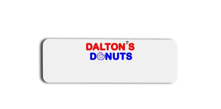 Daltons Donuts name badges tags