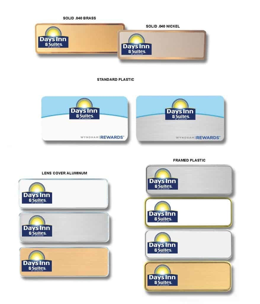 Days Inn and Suites name badges tags