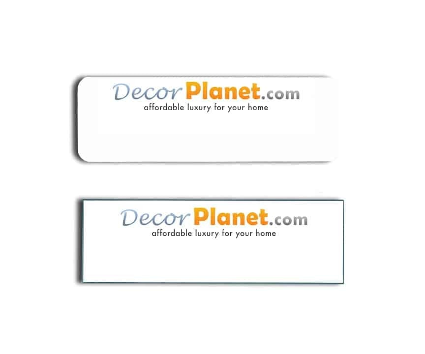 DecorPlanet.com Name Tags Badges