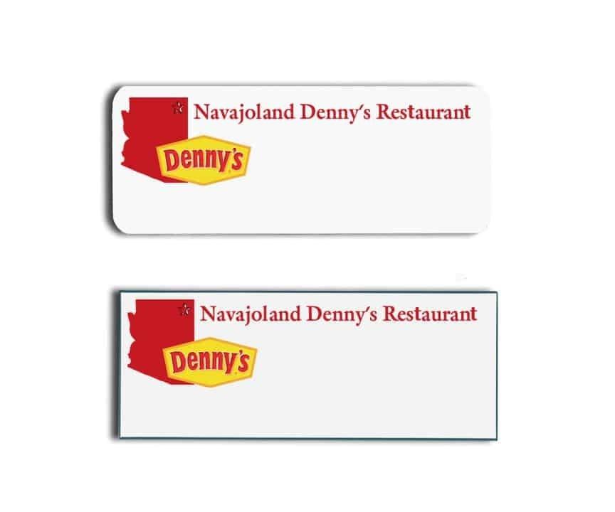 Denny's Navajoland Restaurant Name Tags Badges