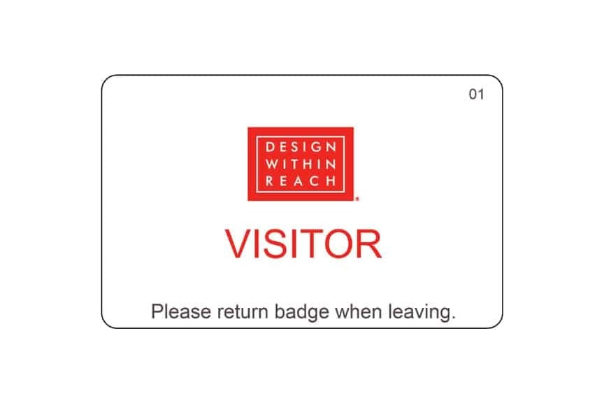 Design Within Reach name badges