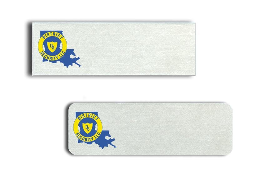 District Security name badges
