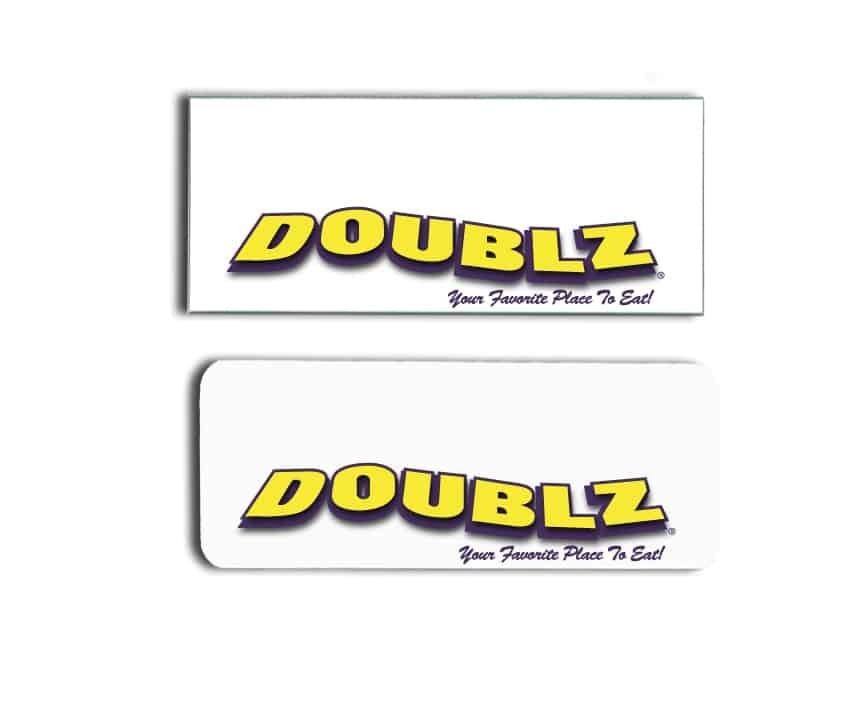 Doublez name badges