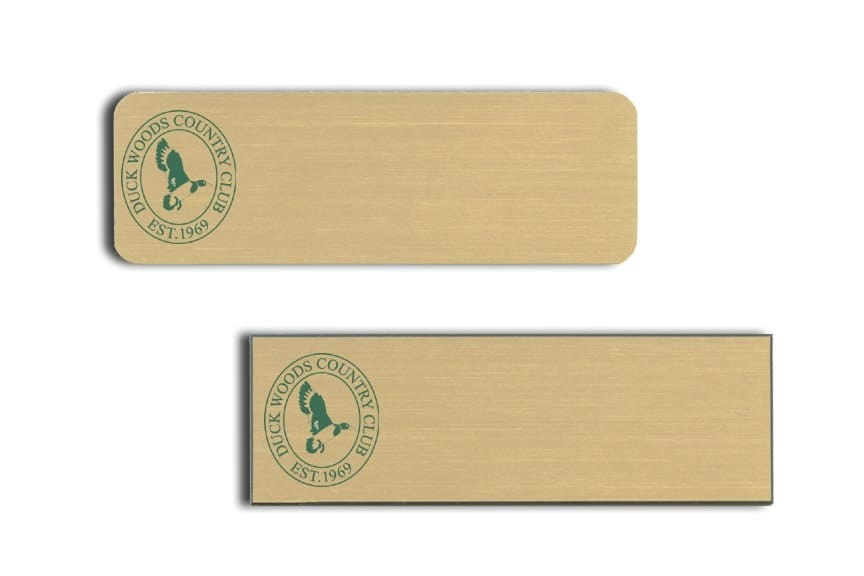 Duck Woods Country Club Name Tags Badges