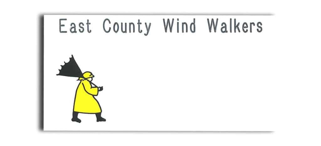 East County Wind Walkers Name Tags Badges