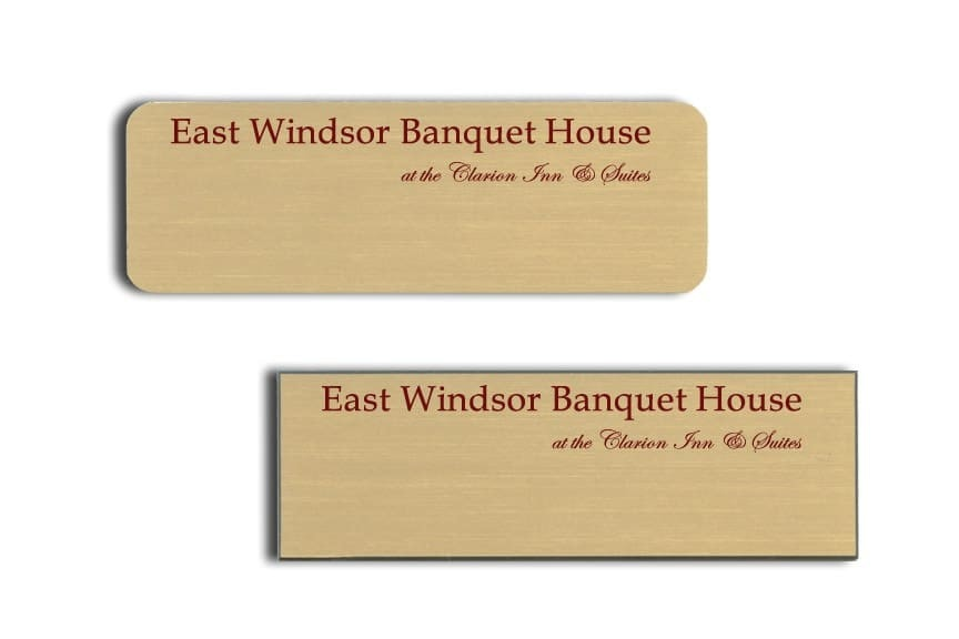 East Windsor Banquet House Name Tags Badges