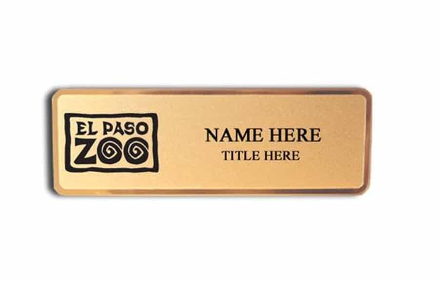 El Paso Zoo name badges tags