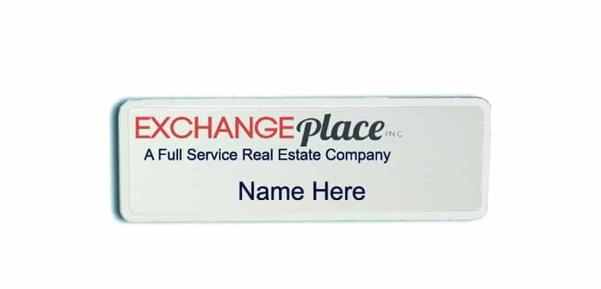 ExchangePlace Real Estate name badges tags