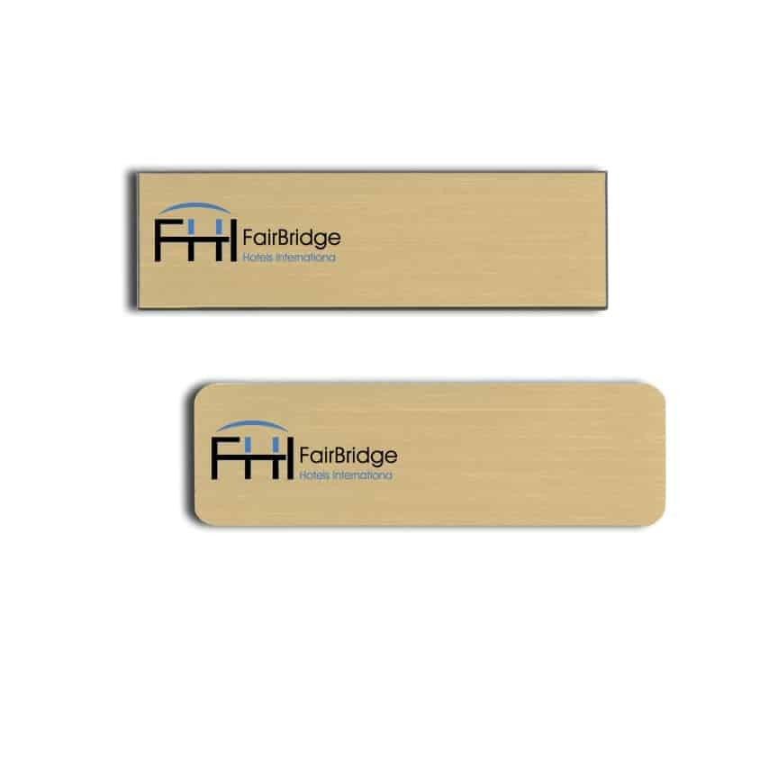 Fairbridge Hotels name badges
