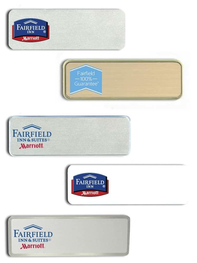Fairfield Inn name badges