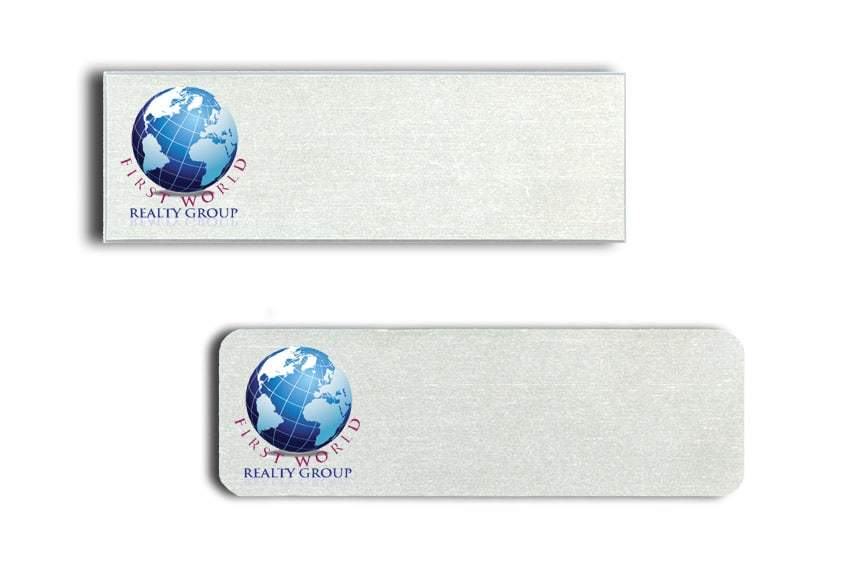 First World Realty Group name badges