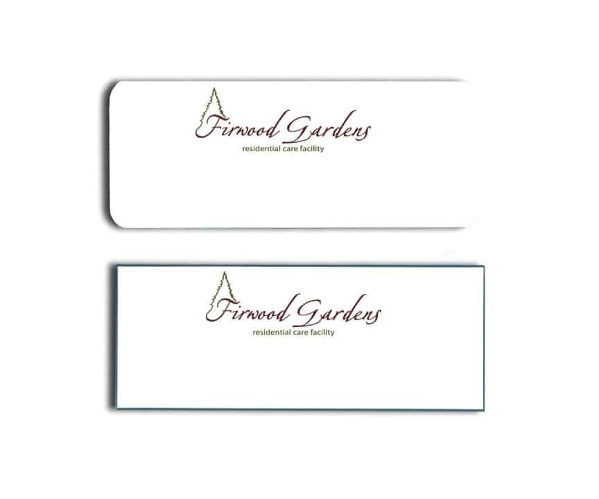 Firwood Gardens Residential Care Name Tags Badges