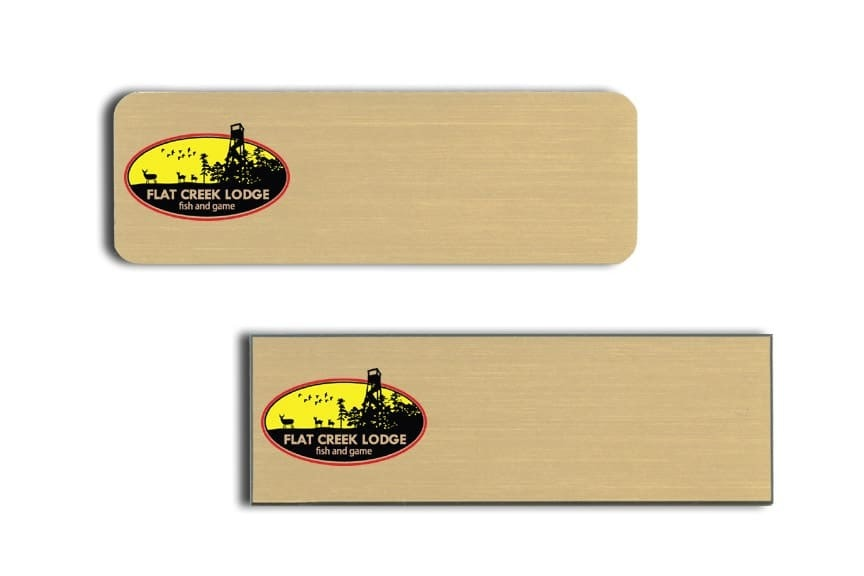 Flat Creek Lodge Name Tags Badges