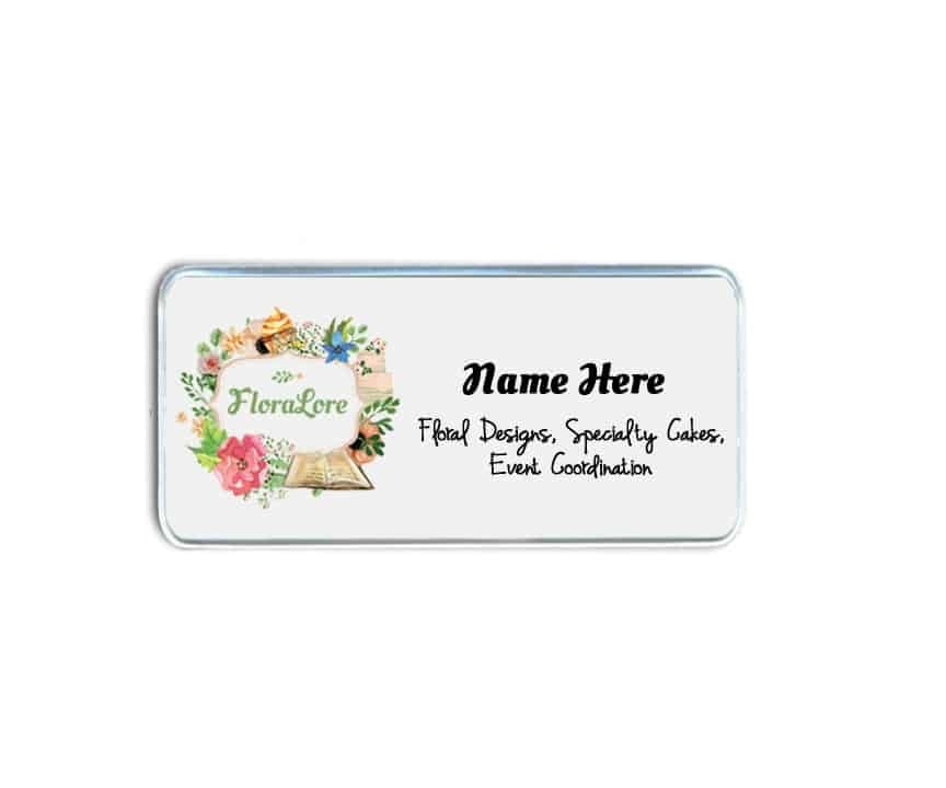 Flora Lore Name Badges