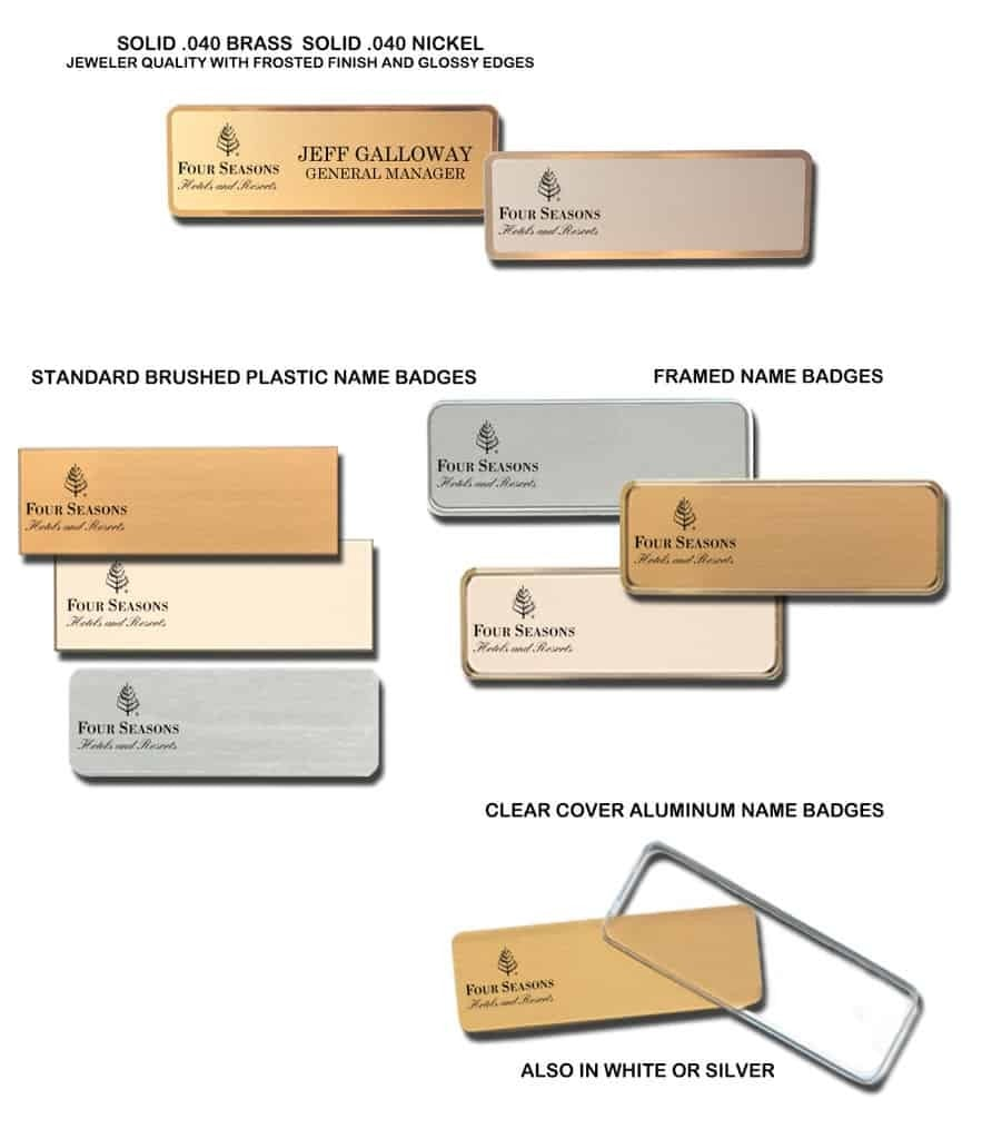 Four Seasons Hotel Name Tags Badges