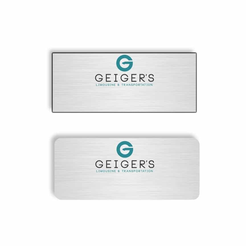 Geigers limousine name badges