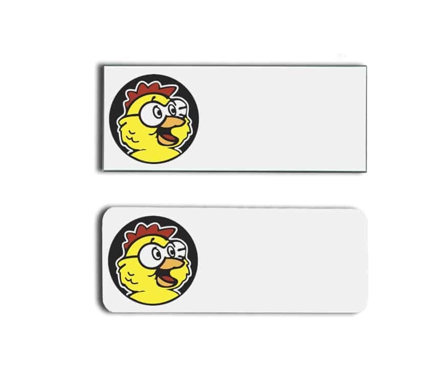 Golden Chick name badges tags