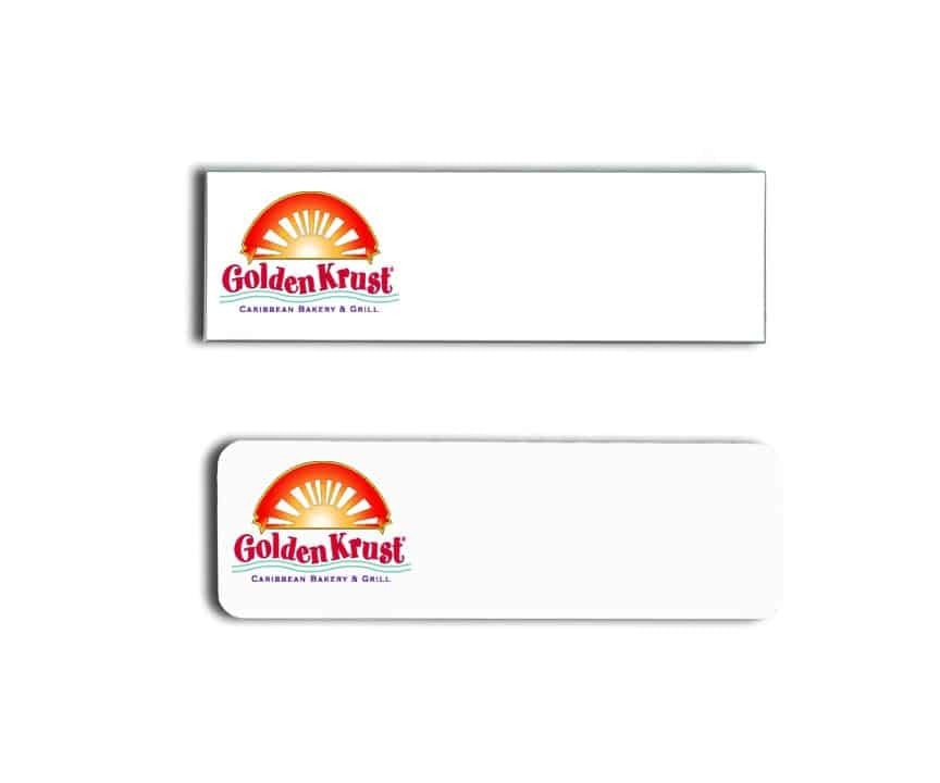 Golden Krust name badges tags