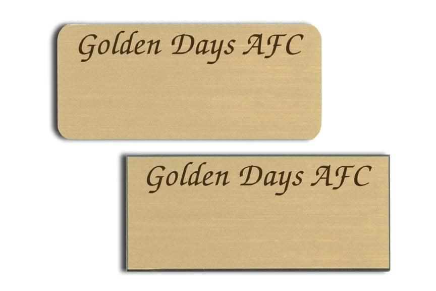 Golden Days AFC Name Badges