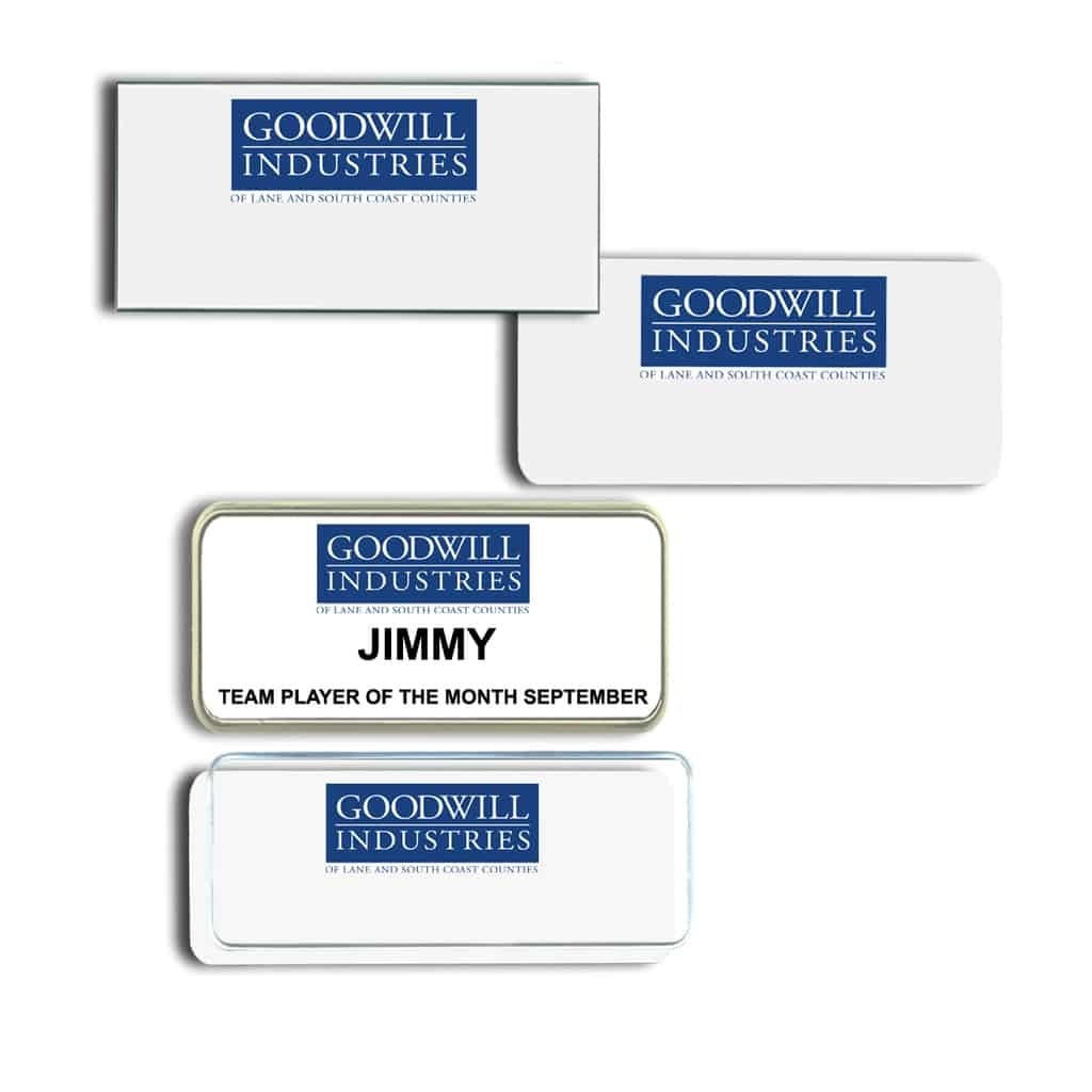 Goodwill Lane County Name Tags Badges