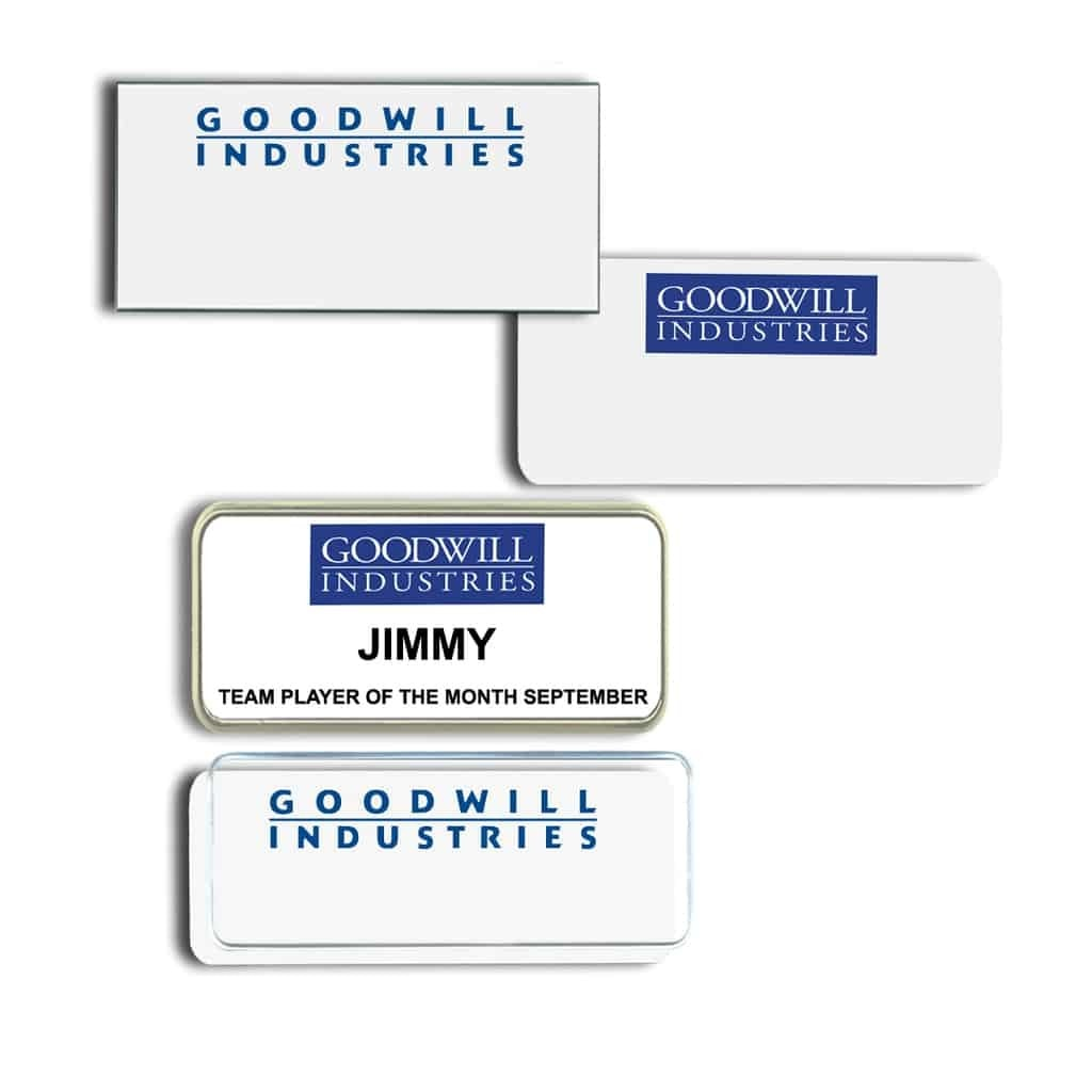 Goodwill National Name Tags Badges