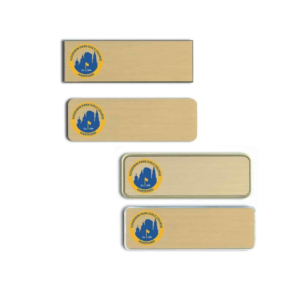 Goodwin Park Golf Course Name Tags Badges