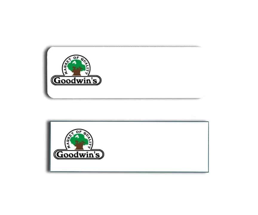 Goodwins Market Name Tags Badges